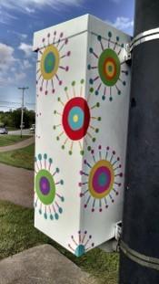 Ginny Denham - art utility box