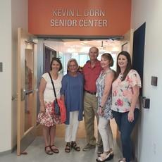 Kevin Dorn, Helen, Meaghan - Senior Center opening
