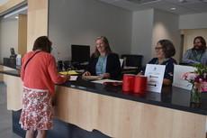 Jessie Baker in Welcome Center