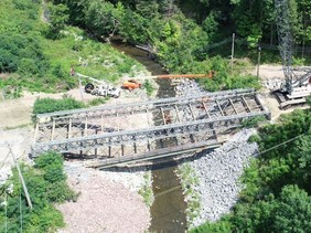 Kimball Ave Bridge Removal - aerial view