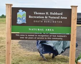Hubbard Park Sign