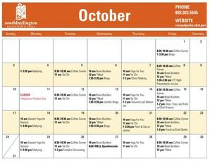 Senior Center Calendar - Oct 2021