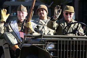Veteran Vehicle Procession waving