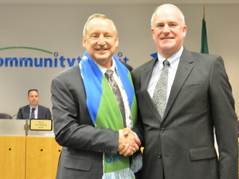 Dennis Smith and Emmett Heath at December 2016 Board Meeting