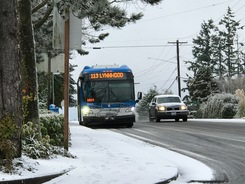 Rte 113 Bus on an icy 148th St.