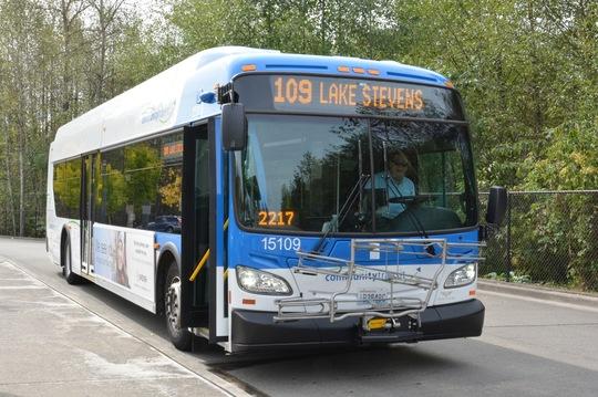 Route 109 Bus in Lake Stevens