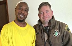 Fotiki Fofana and Deputy Cline