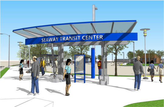 Rendering of Seaway Transit Center