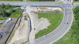 Aerial View of Seaway Transit Center Construction Site