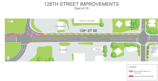 128th St Widening Project - EAST