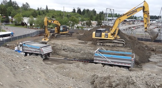 Excavation work at Seaway Transit Center