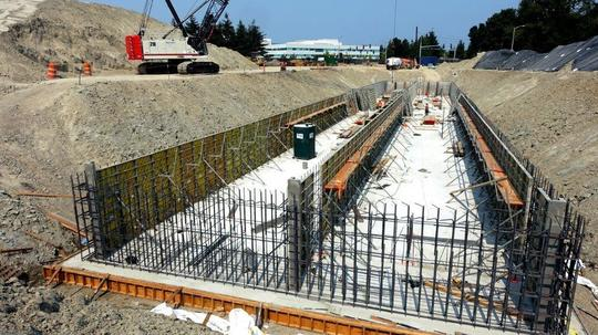 Forming South Walls at Seaway Transit Center