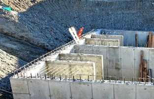 With the walls done, more than 200 cubic yards of cement will be poured for the floor of the large storm water retention vault at the Seaway Transit C
