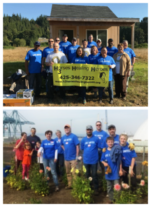 Community Transit employees at Day of Caring 2017 outings