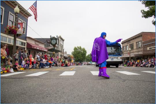 Oxy Gene at a parade
