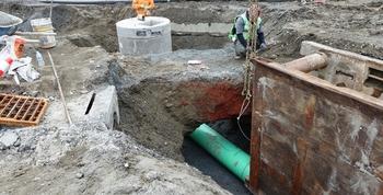 Installing underground infrastructure.