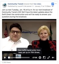 Community Transit Live on Jan. 16