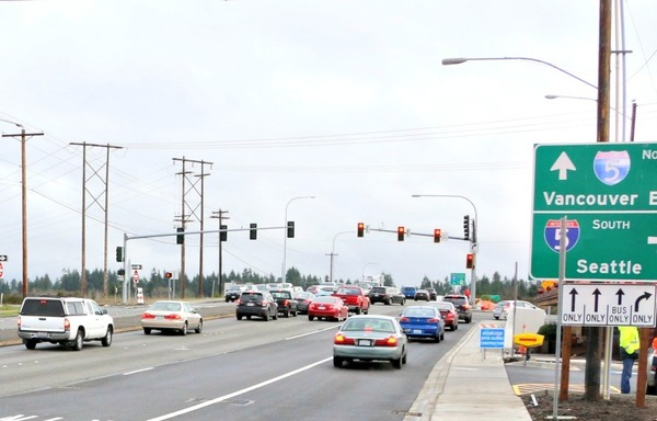 Temporary signage on eastbound 128th St. will be replaced.