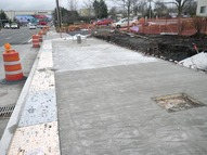 This station, on northbound Airport Rd. at Kasch Park Rd., has completed the first stage of construction.