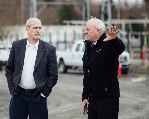 Rick Larsen visits Seaway TC with Emmett Heath