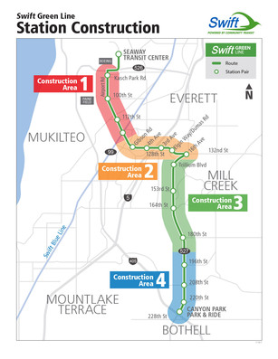 Swift Green Line Construction Area Map