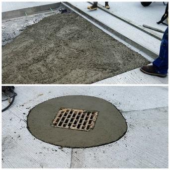 Seaway concrete fill-ins