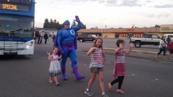 Oxy Gene at the Marysville Strawberry Festival Parade