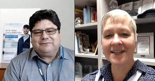 Martin interviews Treva, training manager, during Community Transit Live on June 26, 2018