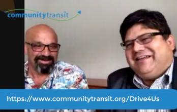 Martin interviews coach operator Paolo on CommunityTransit LIVE August 16 2018