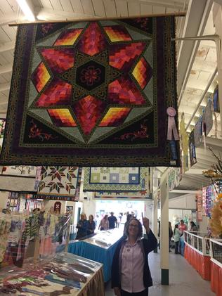 Alva Lissner and her Everett Fair Quilt Entry