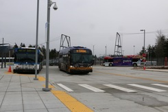 Bus testing at Seaway Transit Center