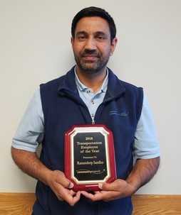 Sandhu, Ramandeep, 2018 Transportation Employee of the Year Award