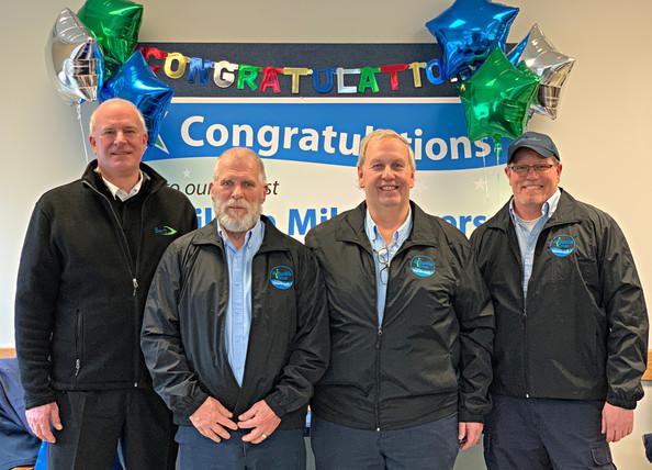 Community Transit CEO Emmett Heath and Million Mile Drivers