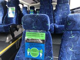 Closed bus seats
