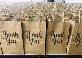 Vanpool thank you bags