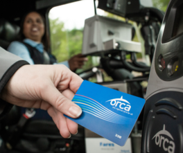 ORCA Card paying fare
