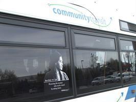 Rosa Parks image on a Community Transit bus