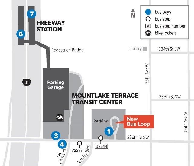 Mountlake Terrace Transit Center bus loop