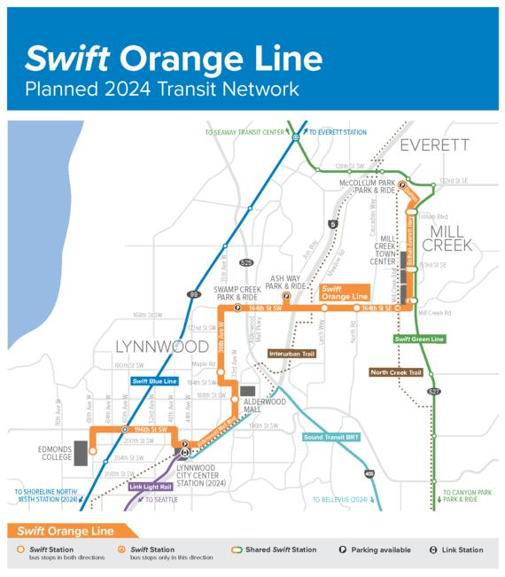 Swift Orange Line map 2021
