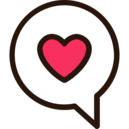 chat bubble with heart