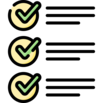 check list icon (standards)