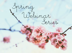 Spring Webinar Series picture tree with flowers