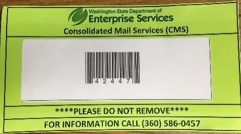 Mailroom barcode