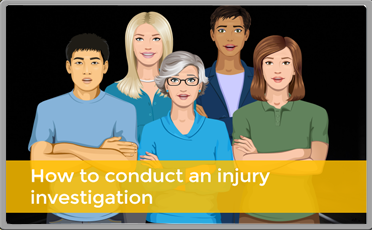 how to conduct an injury investigation.