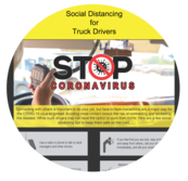 Image of social distancing tip shett created by the TIRES team.