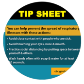 Keeping safe from Covid-19 tip sheet information.