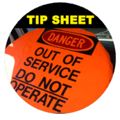 Image of a out of service cover on a semi truck