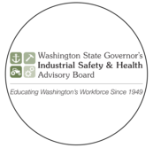 "Image of title, "" Washington State Governor's Industrial Safety & Health Advisory Board, Educating Washington Workforce Since 1949"