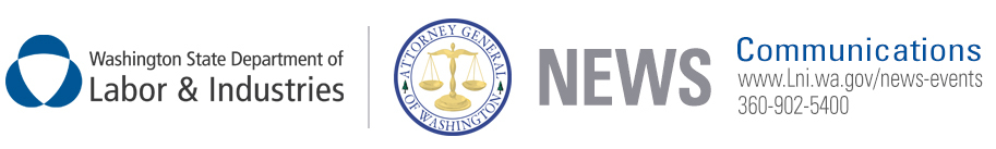L&I and WA AG News Release Header