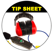 Image of sound meter, headphones, earplugs and other tools to prevent a hearing injury.